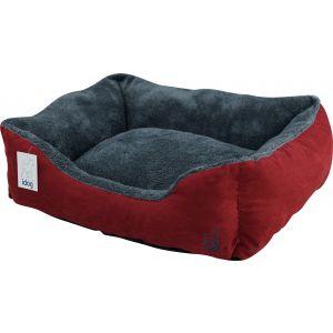 מיטת בד קטיפתית 80 - אדום כחול