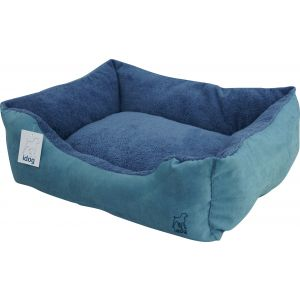מיטת בד קטיפתית 80 - כחול