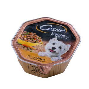 שימור לכלב סיזר קאנטרי עוף וירקות ברוטב 150 גר'