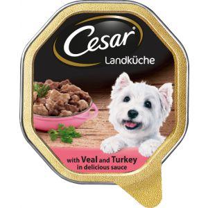 שימור לכלב סיזר קאנטרי עוף וירקות ברוטב 150 גרם