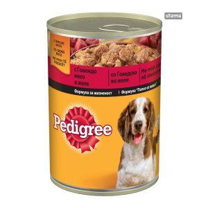 שימור פדיגרי לכלבים בוגרים - בקר 400 גרם