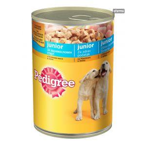 שימור פדיגרי לגורי כלבים - עוף 400 גרם