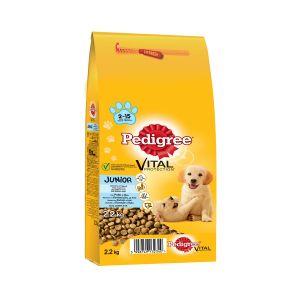 פדיגרי מזון לגורי כלבים עוף ואורז 2.2 ק