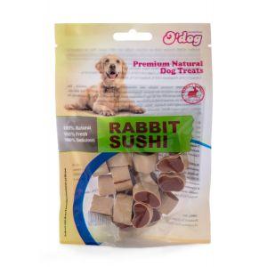 חטיף אודוג לכלב סושי ארנבת ודג 100 גרם