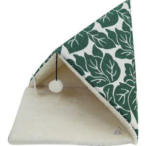 מיטה משולשת הדפס עלים ירוק