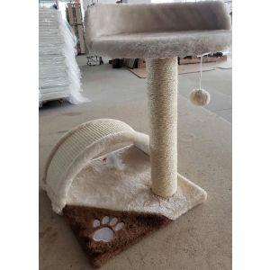 מגרדת לחתול 2 חלקים כסא וגשר - קרם