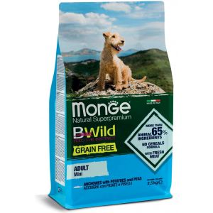 מונג' ביווילד כלב אנשובי ואפונה לא דגנים - ג.קטן 2.5 ק
