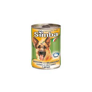 שימור סימבה לכלב עם חתיכות בשר ציד 400 גר'
