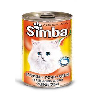 סימבה חתול 400 גרם שימור הודו וכליות