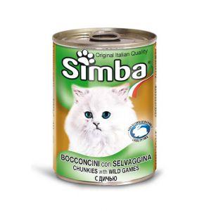 סימבה חתול 400 גרם שימור בשר ציד
