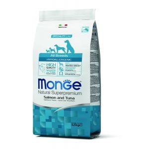 מונג' לכלבים בוגרים רגישים סלמון וטונה 2.5 ק