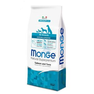 מונג' לכלבים בוגרים רגישים סלמון וטונה 12 ק