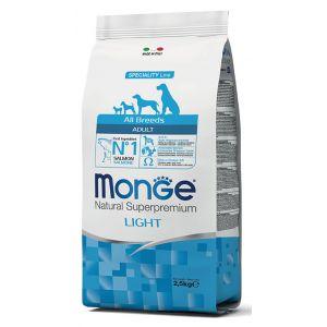 מונג' לייט לכלבים בוגרים מכל הגזעים 2.5 ק