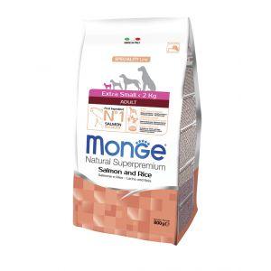 מונג' לכלב אקסטרה מיני סלמון ואורז 2.5 ק