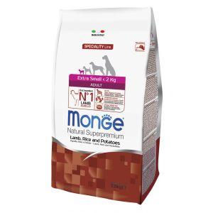 מונג' לכלב אקסטרה מיני כבש ואורז 2.5 ק