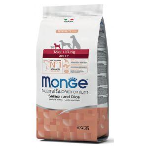 מונג' מיני לכלבים בוגרים סלמון ואורז 7.5 ק