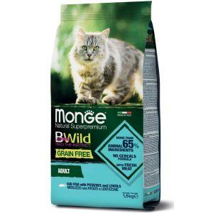 מונג' ביווילד ללא דגנים לחתול - דג קוד ותפו