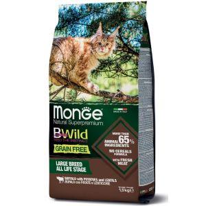 מונג' ביווילד ללא דגנים לחתול - באפלו ותפו