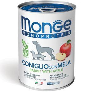 שימור מונג' מונו לכלב - ארנב ותפוח 400 גר'