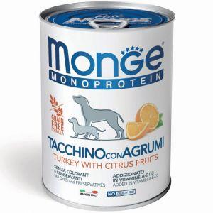שימור מונג' מונו לכלב - הודו והדרים 400 גר'