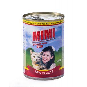 שימור Mimi לחתול נתחי בשר עם בקר 410 גרם