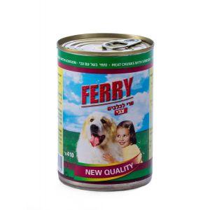 שימור Ferry לכלב נתחי בשר עם צבי 410 גרם