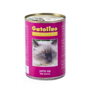 שימור לחתולים גטולינו עם סלמון 410 גרם