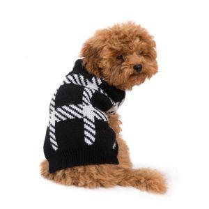 סוודר שחור לבן S