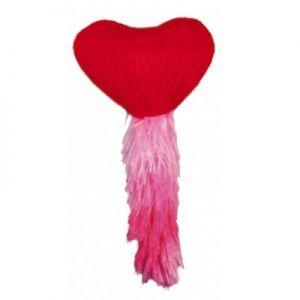 צעצוע לב עם מילוי קטניפ-אדום