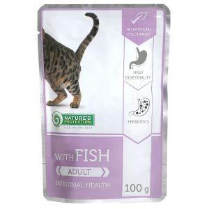 NP פאוץ' לחתול עם דגים אינטסטינל