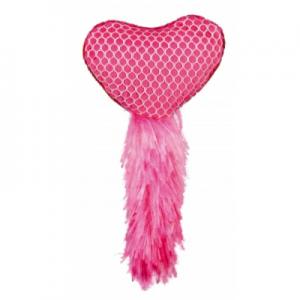 צעצוע לב עם מילוי קטניפ-ורוד