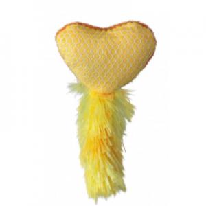 צעצוע לב עם מילוי קטניפ-צהוב