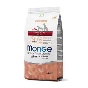 מונג' כלב בוגר מיני סלמון ואורז