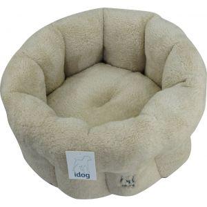 מיטה פרוותית עגולה - קרם