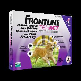 פרונטליין TRI-ACT לכלבים במשקל 20-40 ק