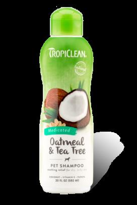 שמפו טרופיקלין מרגיע את העור שיבולת שועל ועץ התה 355 מ