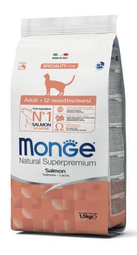 מונג' לחתול בוגר סלמון 1.5 ק
