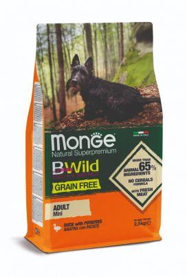 מונג' ביווילד ללא דגנים לכלבים בוגרים מגזעים קטנים - ברווז ותפו
